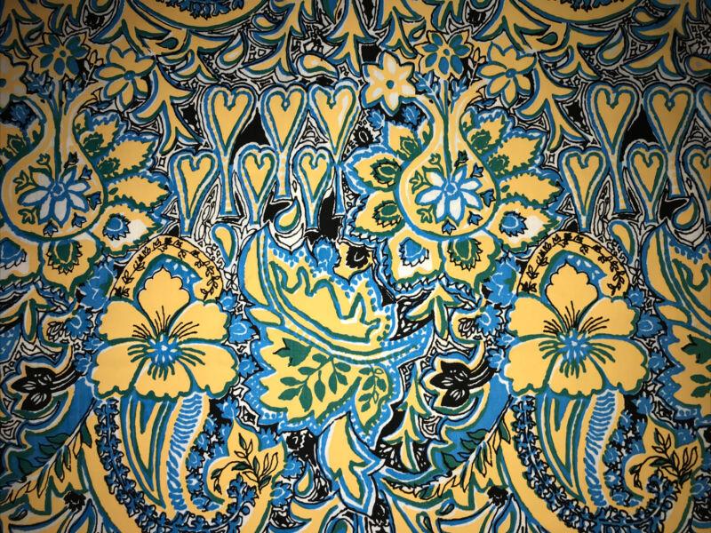"New Key West Hand Print Fabric Lilly Pulitzer Vintage 57""x45"" Morocco by Zuzek"