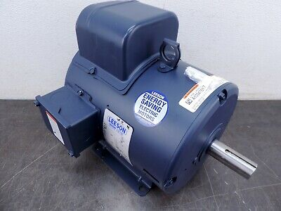 Leeson Electric Motor 131534.00 3 Hp 1800 Rpm 1ph 115230 Volt 184t Frame