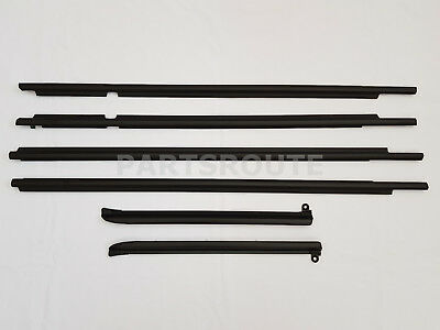 Toyota Land Cruiser Prado GX470 OEM Quarter & Door Belt Moulding Black SET 03-09 ()