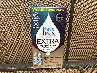 TheraTears Extra Dry Eye Therapy Lubricant Eye Drops Moisturizing TWIN PACK