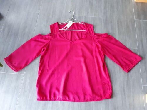 Street One Bluse • Cut out • Cold Shoulder • Gr. 40 • pink • Shirt • NEU NP 40€