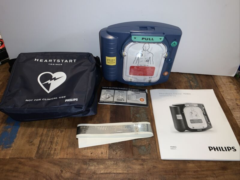 Philips M5085A Heartstart HS1 AED Onsite Defibrillator Trainer w/ Case & Manual