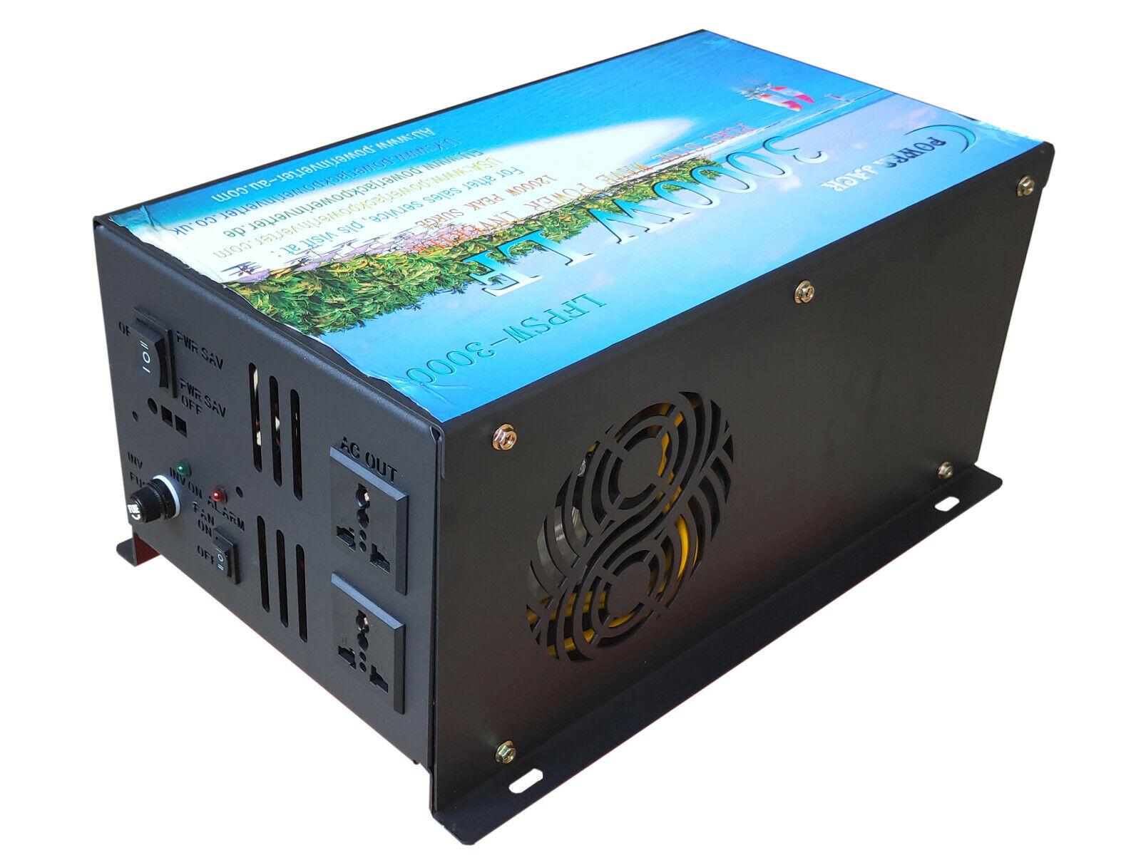 6000W surge power Power Inverter 12V DC to 110V 120V/car pow