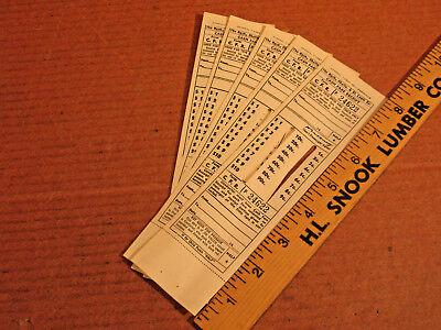 Nashville Chattanooga St. Louis Railway 5 Tickets  unused