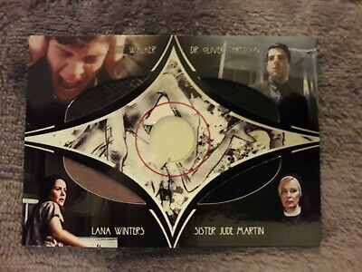 AHS American horror story Asylum trading card CP1 costume prop 4 pièces + sketch