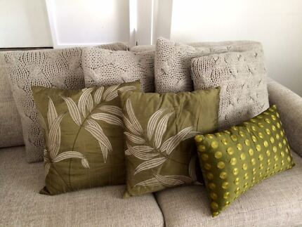 Seven Decorator cushions - elegant and stylish