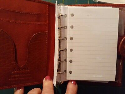 3132pgs Undayted Ivory Ruled Refills For Filofax Pocket Organizers With 6 Holes