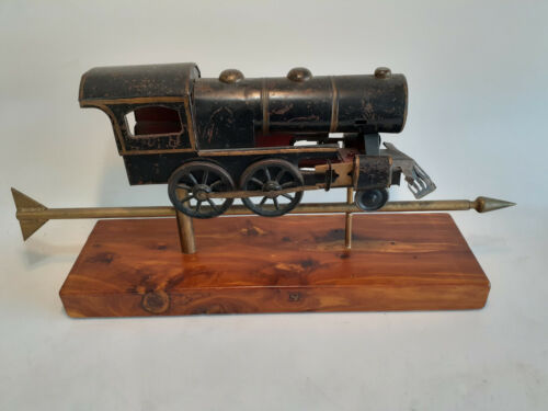 Rare Antique Locomotive Weathervane From An Estate Collection, Custom Base