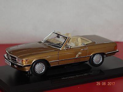 Mercedes 300 SL R107 1986 gold met. 1:18 Norev 183514 neu & OVP gebraucht kaufen  Sulzbach