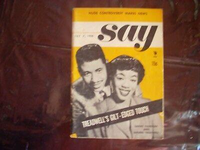 rare Say magizine July 7 1955. Sarah Vaughan, geroge Tredwell cover free shippin