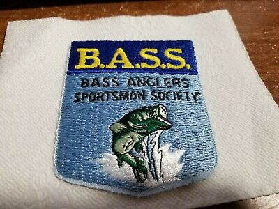 #2 Vintage Bass Anglers Sportsman Society  Iron On Patch Fishing Sport -