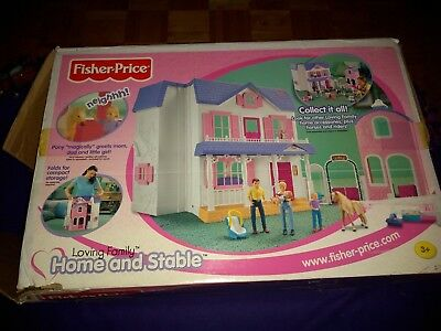 Fisher Price Loving Family Dollhouse Home & Horse Stable w/ EXTRAS