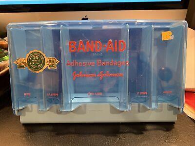 BAND AID STORE DISPLAY Counter Wall Holder Vintage Johnson & Johnson 35th Anniv