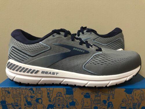 Brooks Beast 20 Grey Navy White Men