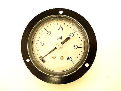 2-12 Back Mount Panel Pressure Gauge 18 Npt 0-60 Psi Front Flange