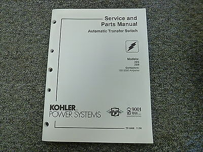 Kohler Zcs Zcb Automatic Transfer Switch Parts Catalog Shop Service Manual