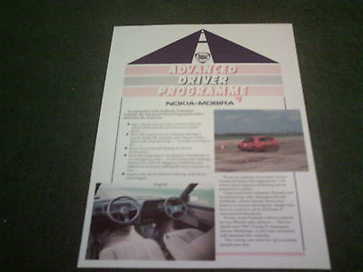 1988 1989 LANCIA ADVANCED DRIVER PROGRAMME - DELTA HF INTEGRALE LEAFLET BROCHURE