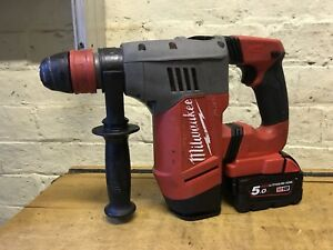 Milwaukee 18v Sds Hammer Drill Fuel Brushless M18 Chpx Battery 5.0 Joblot Tools