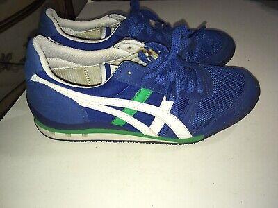 VTG Asics Hn201 Onitsuka Tiger Ultimate 81 Blue Green White Running Shoes Mens 6