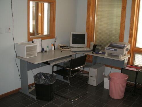 5 L - Shaped Gray Office Desk Sets