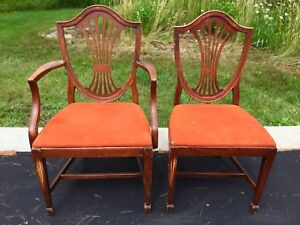 2 Antique Solid Wood Chairs