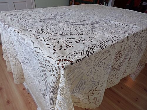 Lace Tablecloth~Creamy Ivory/Ecru~NWOTS~