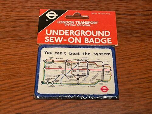 London Underground rare vintage 80s sew-on patch Tube map badge British Mod NOS