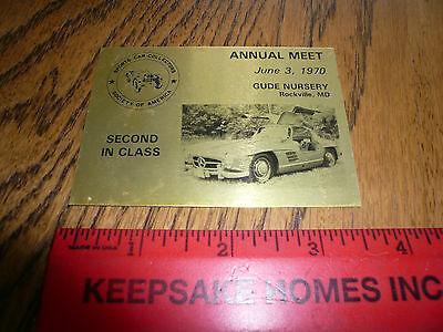 1970 Annual Meet Gude Nursery Rockville MD Show Car Show Metal Dash Plate