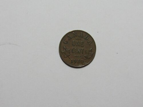 Old Canada Coin - 1930 1 Cent - Circulated