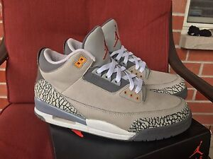 Jordan Retro 3 LS Cool Grey (2007) - Size 10