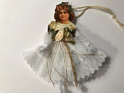 Paper doll Christmas ornaments, Chenille feather tree vintage image item# 14 ()