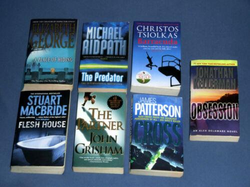 7x Krimi, Thriller, in englischer Sprache, Buchpaket, Sammlung, Konvolut