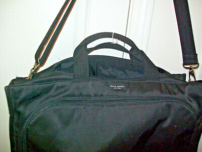"Kate Spade LUGGAGE 20""X15X8"" Black Nylon Luggage Carry On Weekender Overnighter"