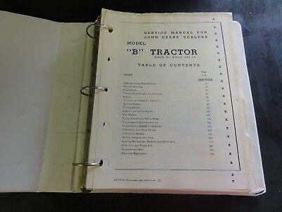 John Deere Model B Tractor Service Manual