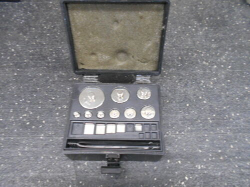 14 PIECES OF DENVER INS. 854254.1 STAINLESS STEEL CALIBRATION WEIGHT