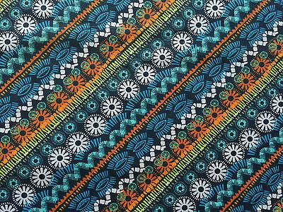 Navy Blue FQ Fat Quarter Patterns Flowers Floral RARE 100% Cotton Quilting
