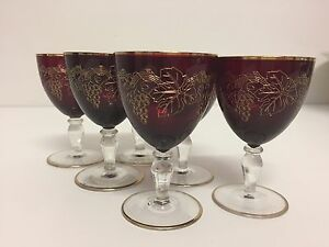 6 x antique port/desert wine glasses Coorparoo Brisbane South East Preview