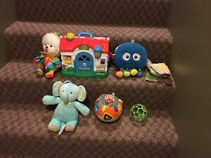 Variety of baby toys