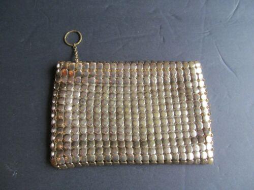 Vintage Whiting & Davis Gold Mesh Purse Clutch Bag Talon Ring