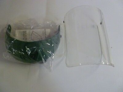 New Wilson M-86 Protective Face Shield Visor With Model 690 Hardhat Attachment