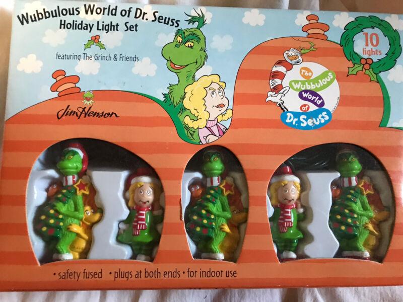 Wubbulous World of Dr Seuss Holiday Light Set Grinch Christmas - Jim Henson