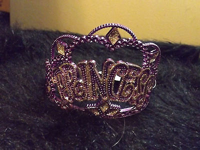 new purple and  silver princess  tiara comb hair care crown little Diva