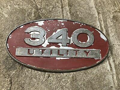 Ih International 340 Utility Tractor Emblem