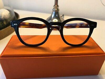 Krass Optik - trendy Brillengestell, Kunststoff, schwarz-hornfarben mit Fernglas