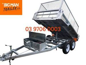 10X5 HYDRAULIC TIPPER TRAILER HOT DIP GALVANISED CAGE 3500KG