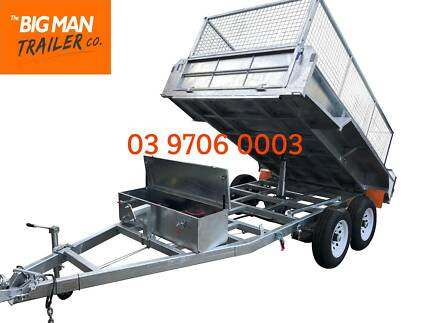 10X5 HYDRAULIC TIPPER TRAILER HOT DIP GALVANISED CAGE 3500KG Dandenong Greater Dandenong Preview