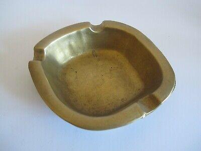 EDEL schöner massiver Messing Bronze Aschenbecher Ascher