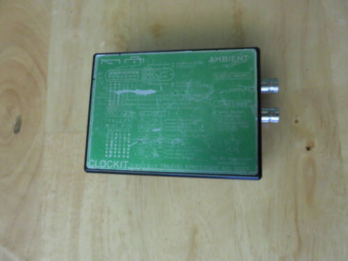 Ambient ACL 202CT Time Code Generator / Reader and Tri-Level Sync Box  CLOCKIT