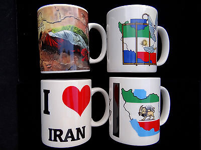 Persisch Flagge Karte Becher Pahlavi Kingdom Shir Khorshid Farvahar Löwe Sonne - Persischen Becher