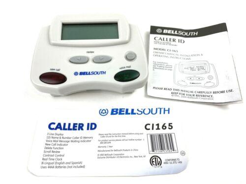 Bell South Caller ID 125 Call Memory - BellSouth CI-165